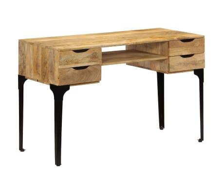 vidaXL Rašomasis stalas, mango medienos masyvas, 120x50x76cm[10/14]
