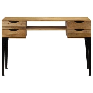 vidaXL Rašomasis stalas, mango medienos masyvas, 120x50x76cm[2/14]