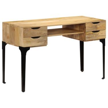 vidaXL Rašomasis stalas, mango medienos masyvas, 120x50x76cm[11/14]