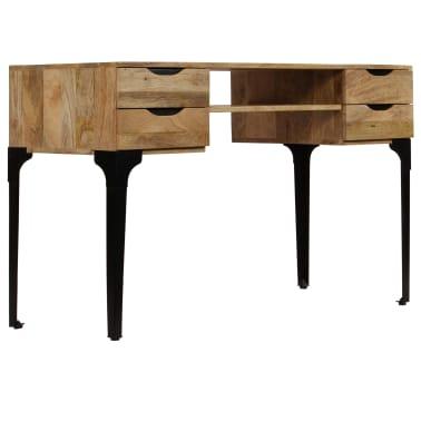 vidaXL Rašomasis stalas, mango medienos masyvas, 120x50x76cm[3/14]