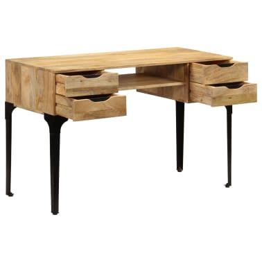 vidaXL Rašomasis stalas, mango medienos masyvas, 120x50x76cm[4/14]