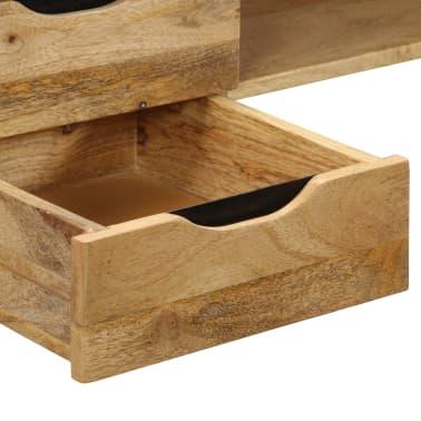 vidaXL Rašomasis stalas, mango medienos masyvas, 120x50x76cm[6/14]