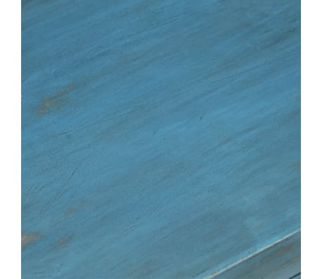 vidaXL Noptieră, albastru, 40 x 30 x 50 cm, lemn masiv de mango[11/14]