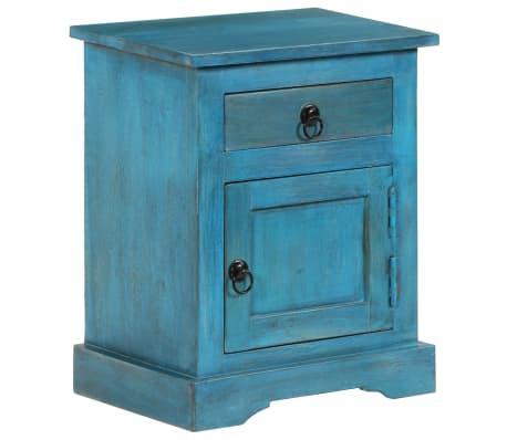 acheter vidaxl table de chevet bois de manguier massif 40 x 30 x 50 cm bleu pas cher. Black Bedroom Furniture Sets. Home Design Ideas