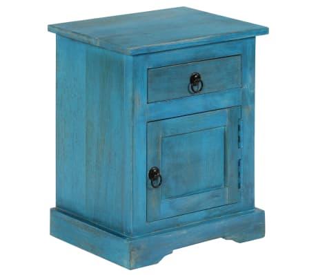 vidaXL Noptieră, albastru, 40 x 30 x 50 cm, lemn masiv de mango[4/14]