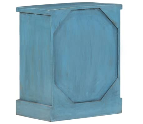 vidaXL Noptieră, albastru, 40 x 30 x 50 cm, lemn masiv de mango[5/14]