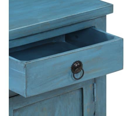 vidaXL Noptieră, albastru, 40 x 30 x 50 cm, lemn masiv de mango[6/14]
