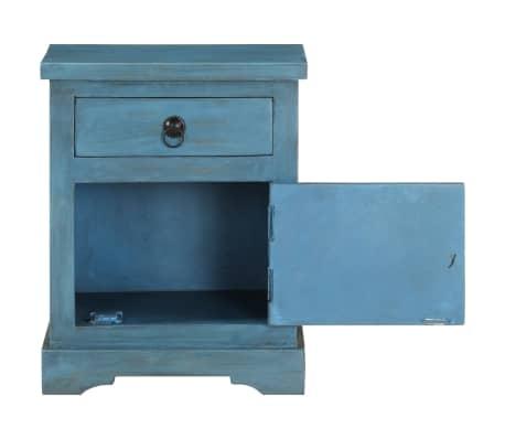 vidaXL Noptieră, albastru, 40 x 30 x 50 cm, lemn masiv de mango[7/14]