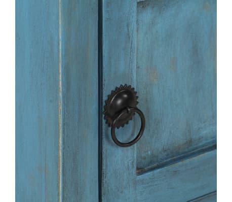 vidaXL Noptieră, albastru, 40 x 30 x 50 cm, lemn masiv de mango[10/14]