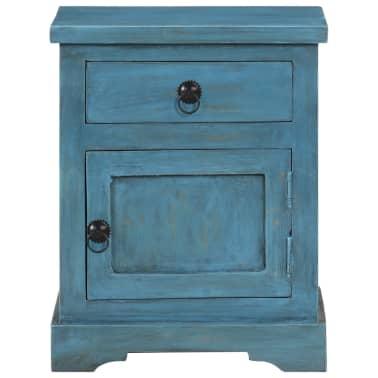 vidaXL Noptieră, albastru, 40 x 30 x 50 cm, lemn masiv de mango[2/14]