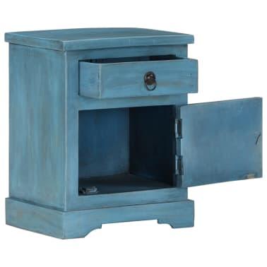 vidaXL Noptieră, albastru, 40 x 30 x 50 cm, lemn masiv de mango[8/14]