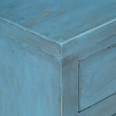 vidaXL Noptieră, albastru, 40 x 30 x 50 cm, lemn masiv de mango[9/14]
