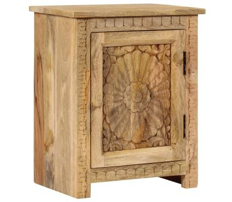 vidaXL Masă noptieră, lemn masiv de mango, 40 x 30 x 50 cm