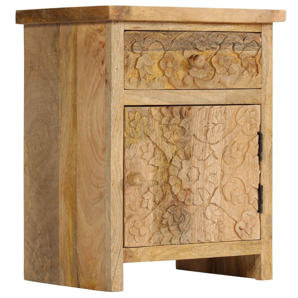 vidaXL Masă noptieră, lemn masiv de mango, 40 x 30 x 50 cm imagine vidaxl.ro