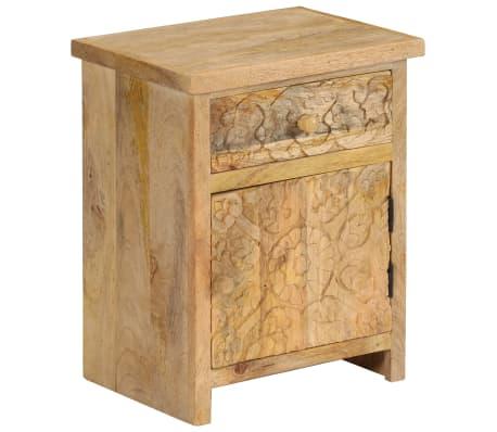 vidaxl table de chevet bois de manguier massif 40 x 30 x 50 cm. Black Bedroom Furniture Sets. Home Design Ideas