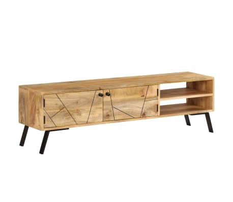 vidaXL Tv-meubel 140x30x40 cm massief mangohout[14/15]