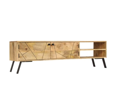 vidaXL Tv-meubel 140x30x40 cm massief mangohout[3/15]