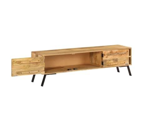 vidaXL Tv-meubel 140x30x40 cm massief mangohout[6/15]
