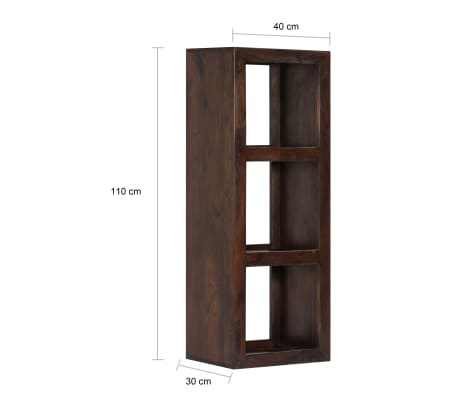 vidaXL Armoire console 40 x 30 x 110 cm Bois d'acacia massif[8/13]