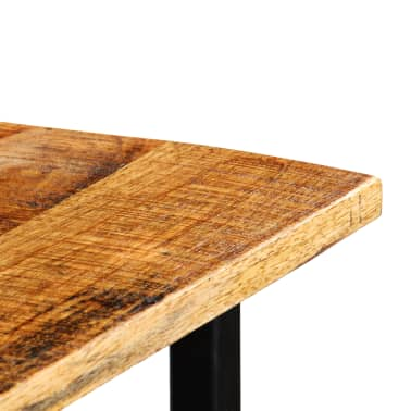 vidaXL Table de bar Bois de manguier massif 60x60x107cm Rouge Tracteur[6/17]