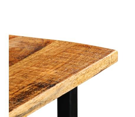 vidaXL Table de bar Bois de manguier 60x120x107 cm Rouge Tracteur[6/16]