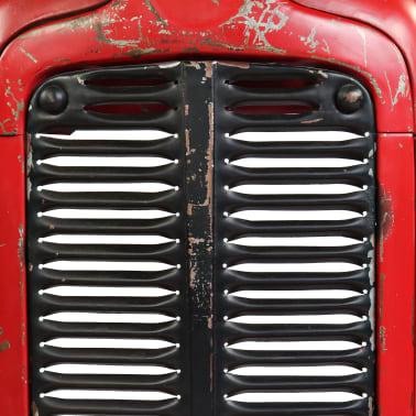 vidaXL Table de bar Bois de manguier 60x120x107 cm Rouge Tracteur[9/16]