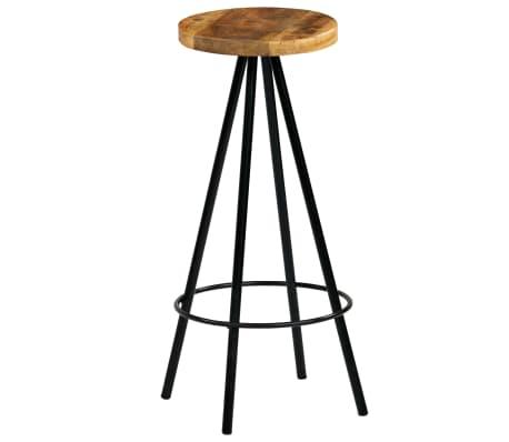 vidaXL Barski stoli 4 kosi trden mangov les 30x30x76 cm[11/12]