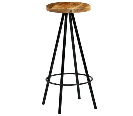 vidaXL Barski stoli 4 kosi trden mangov les 30x30x76 cm[9/12]
