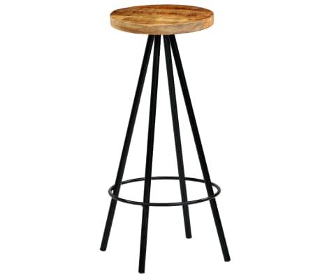 vidaXL Barski stoli 4 kosi trden mangov les 30x30x76 cm[10/12]