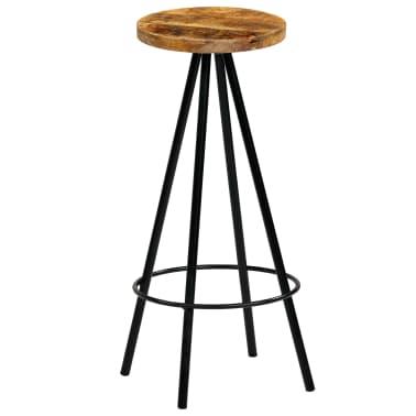 vidaXL Barski stoli 4 kosi trden mangov les 30x30x76 cm[2/12]