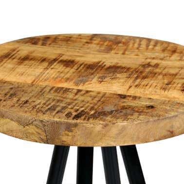 vidaXL 3-dijelni barski set od masivnog drva manga 60 x 60 x 107 cm[10/14]