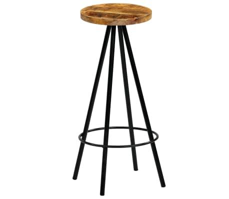 vidaXL Set de bar 5 piezas madera maciza mango 120x60x107 cm[9/14]