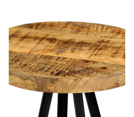 vidaXL Set de bar 5 piezas madera maciza mango 120x60x107 cm[10/14]