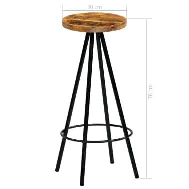 vidaXL Set de bar 5 piezas madera maciza mango 120x60x107 cm[14/14]