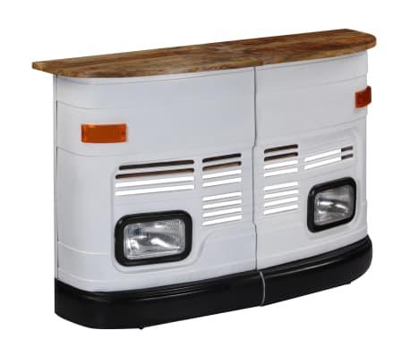 vidaXL Truck Bar Table Solid Mango Wood White