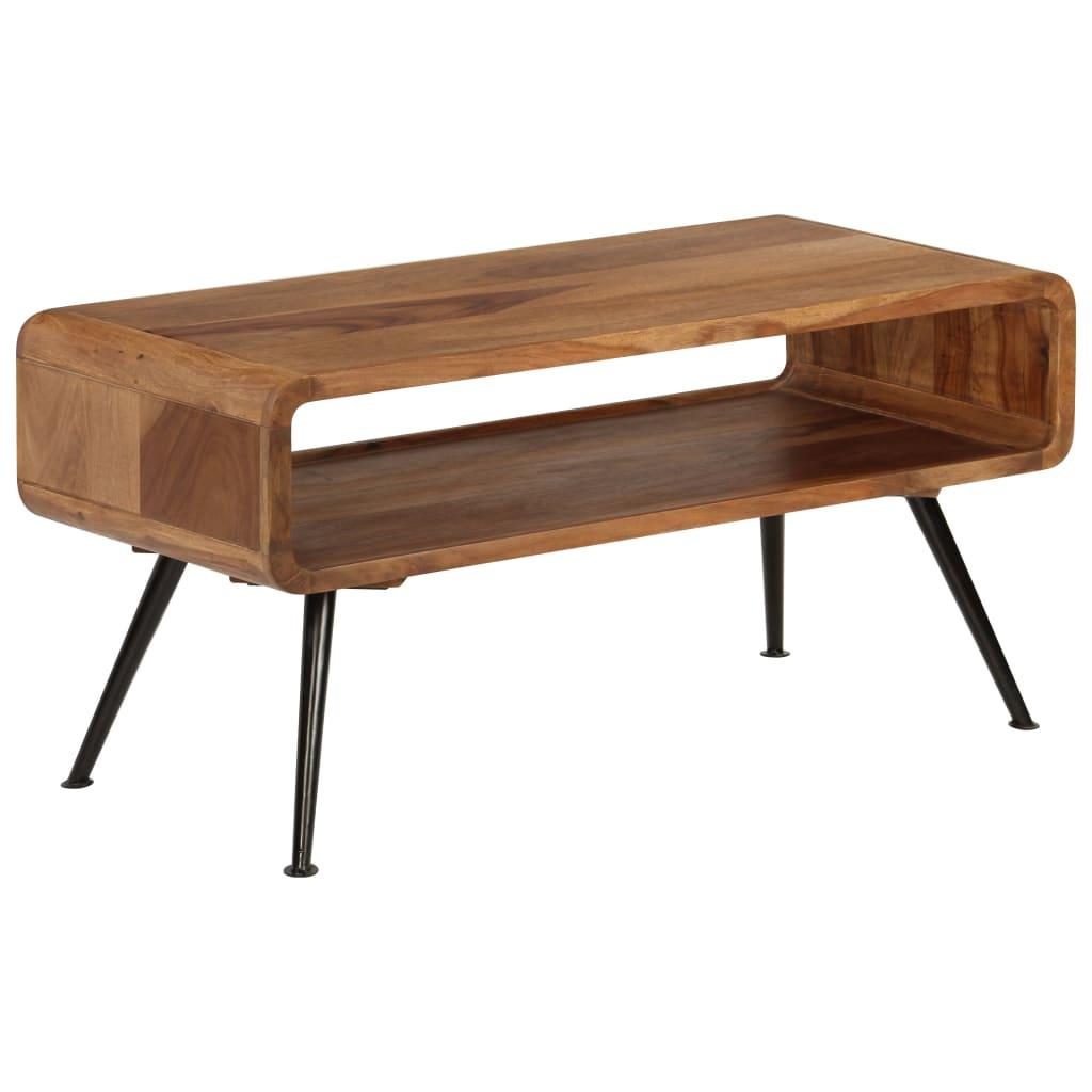 vidaXL Stolik kawowy z litego drewna sheesham, 95 x 40 x 45 cm