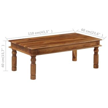 vidaXL Konferenční stolek z masivního sheeshamu 110 x 60 x 40 cm[4/9]