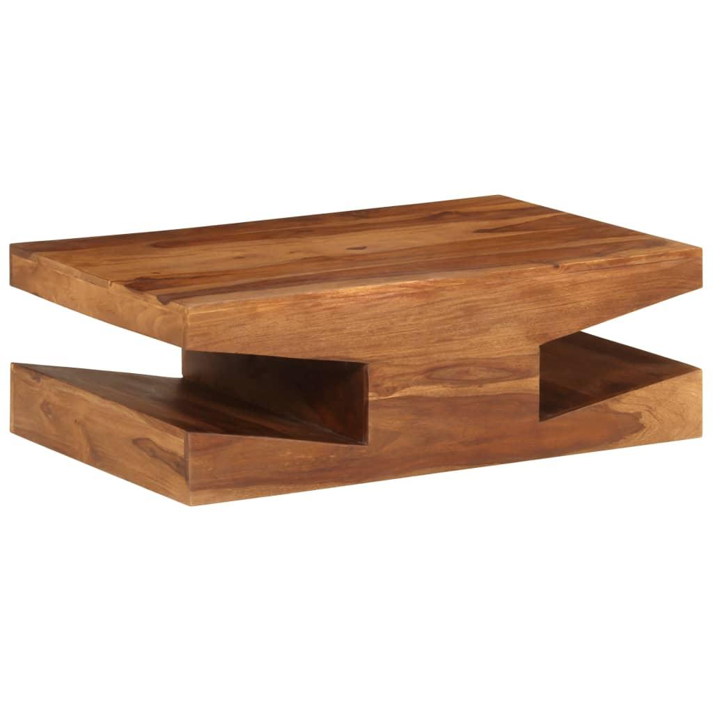 vidaXL Stolik kawowy z litego drewna sheesham, 90 x 60 x 30 cm