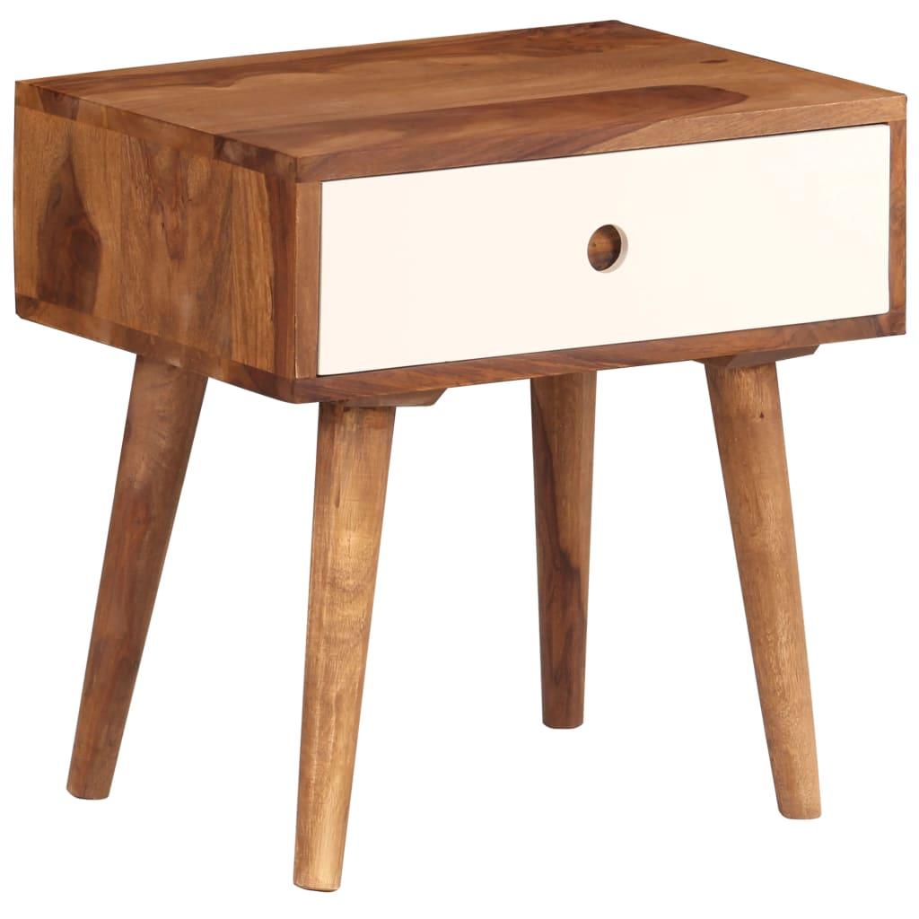 vidaXL Noptieră, 45x30x45 cm, lemn masiv de sheesham imagine vidaxl.ro
