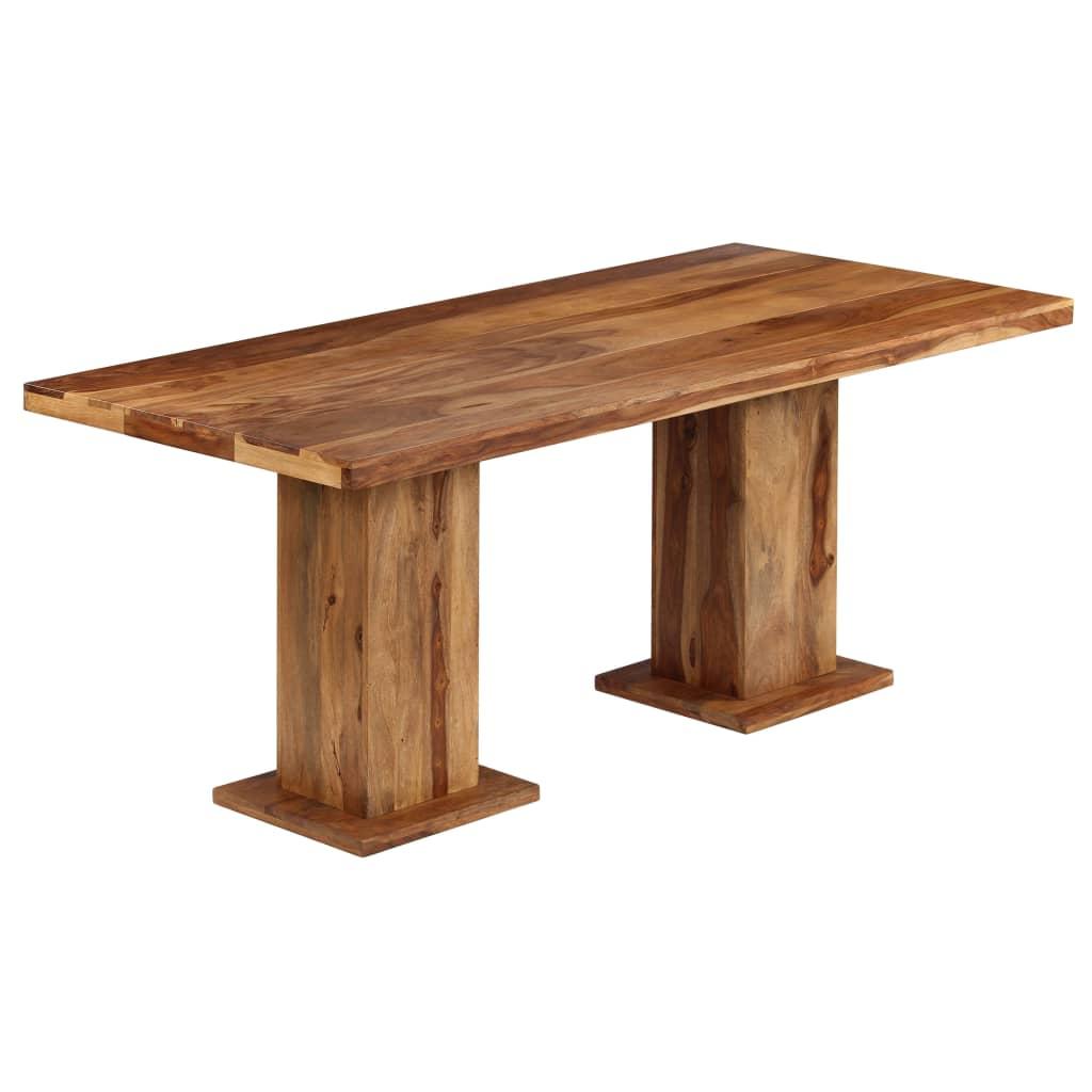 vidaXL Masywny stół do jadalni z litego drewna sheesham, 175x90x77 cm
