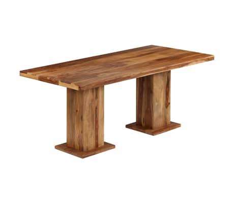 vidaXL Masă de bucătărie masivă, 175x90x77 cm, lemn masiv de sheesham