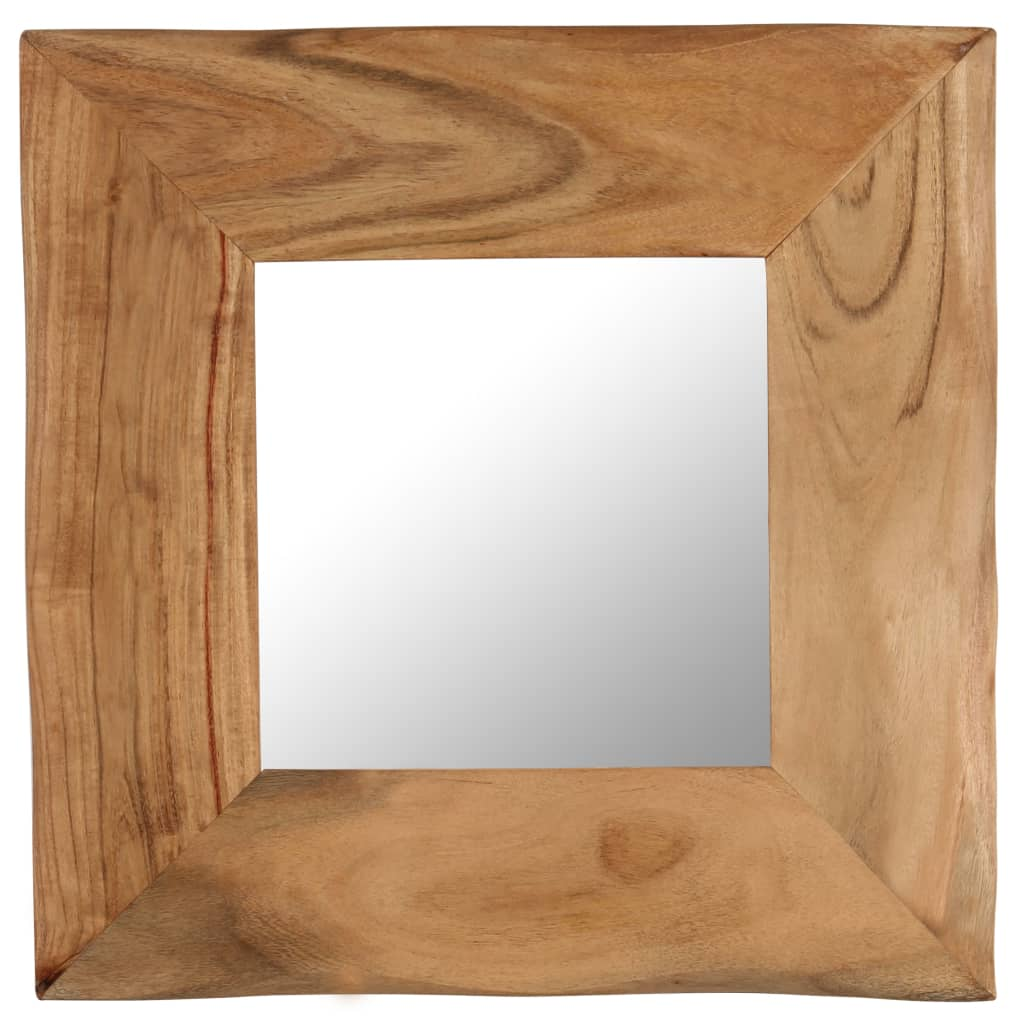 vidaXL Oglindă cosmetică, 50 x 50 cm, lemn masiv de acacia poza vidaxl.ro