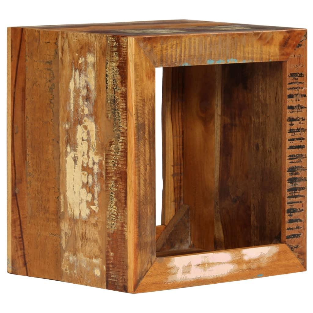 vidaXL Stolac od masivnog obnovljenog drva 40 x 30 x 40 cm