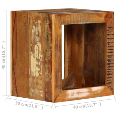 vidaXL Taburetė, 40x30x40cm, perdirbtos medienos masyvas[8/14]
