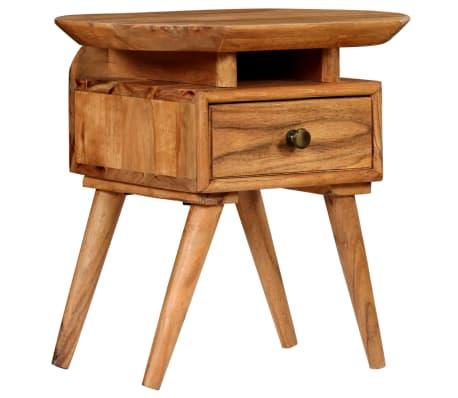 vidaXL Naktinis staliukas, 45x35x45cm, akacijos medienos masyvas