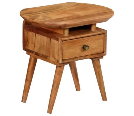 vidaXL Naktinis staliukas, 45x35x45cm, akacijos medienos masyvas[14/17]