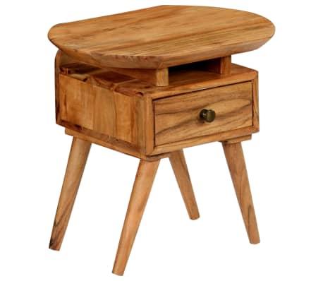 vidaXL Naktinis staliukas, 45x35x45cm, akacijos medienos masyvas[17/17]