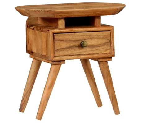 vidaXL Naktinis staliukas, 45x35x45cm, akacijos medienos masyvas[4/17]