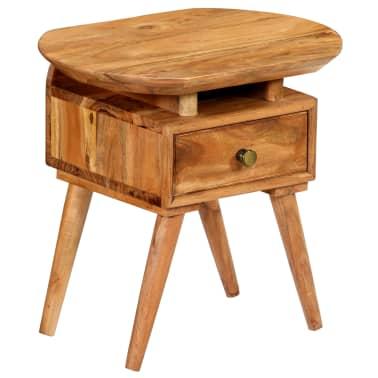 vidaXL Naktinis staliukas, 45x35x45cm, akacijos medienos masyvas[2/17]
