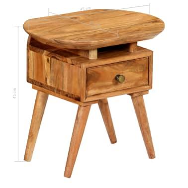vidaXL Naktinis staliukas, 45x35x45cm, akacijos medienos masyvas[13/17]